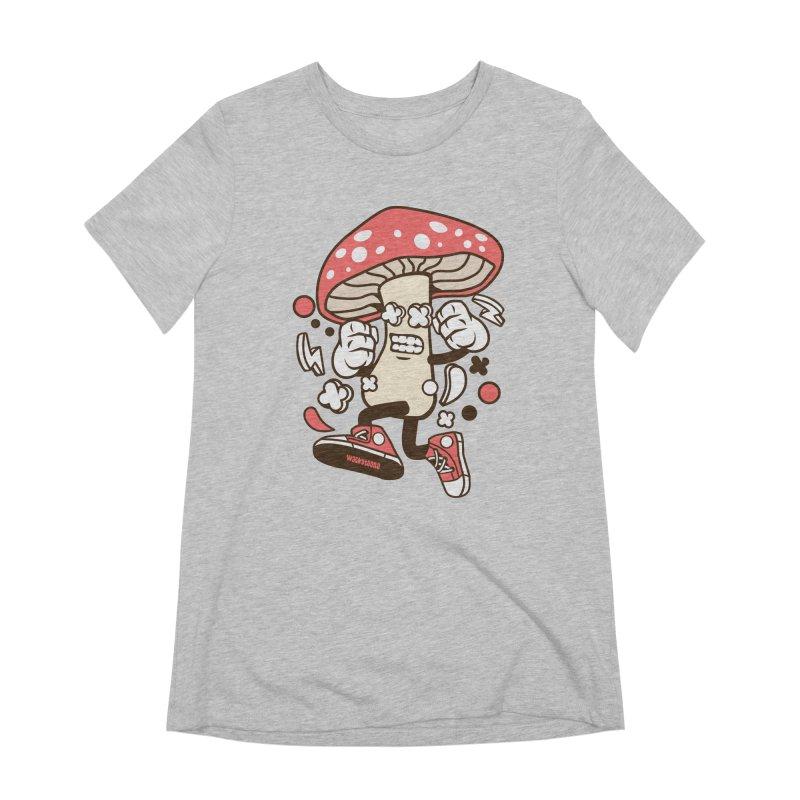 Magic Mushroom Women's Extra Soft T-Shirt by WackyToonz