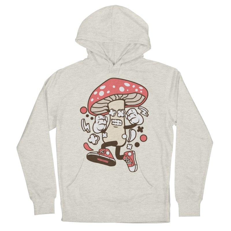 Magic Mushroom Men's French Terry Pullover Hoody by WackyToonz