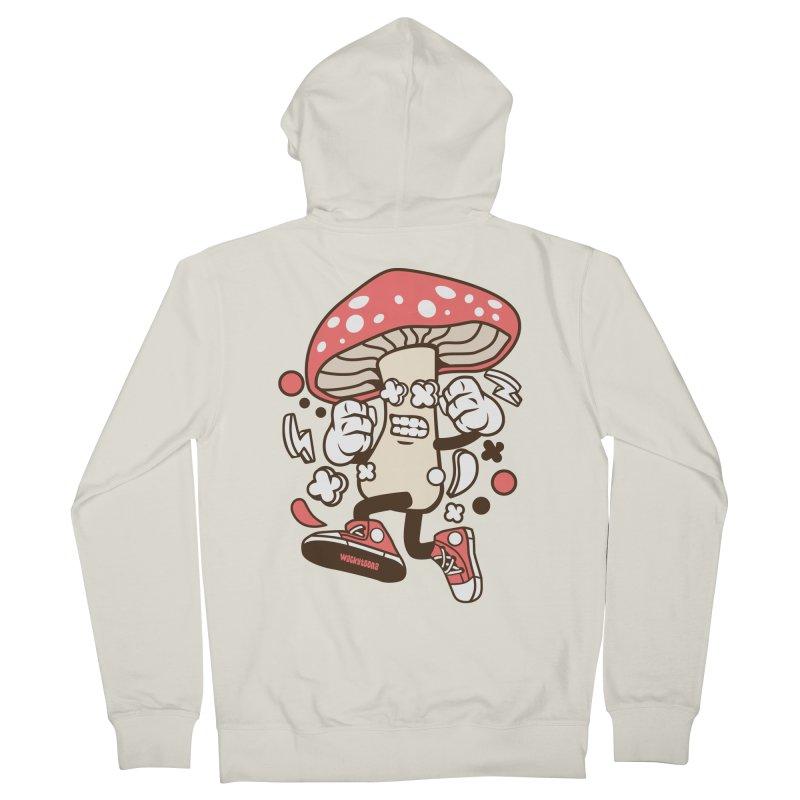 Magic Mushroom Women's French Terry Zip-Up Hoody by WackyToonz