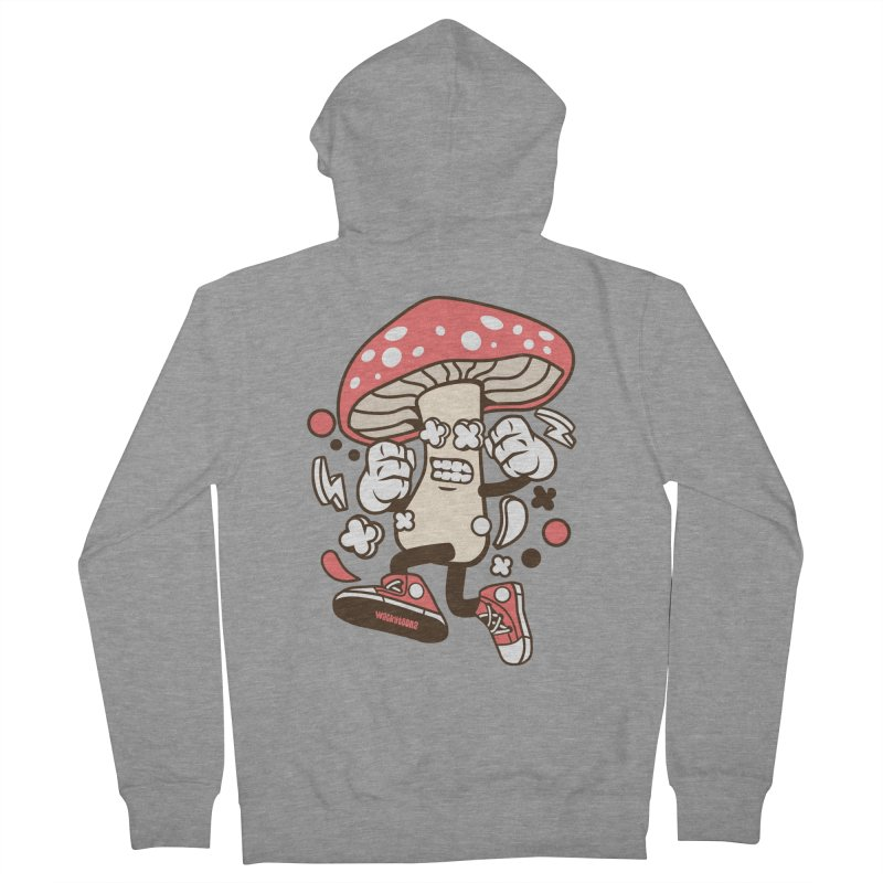 Magic Mushroom Men's French Terry Zip-Up Hoody by WackyToonz