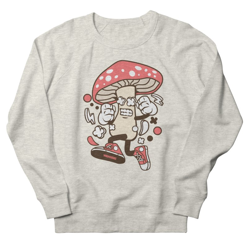 Magic Mushroom Men's French Terry Sweatshirt by WackyToonz