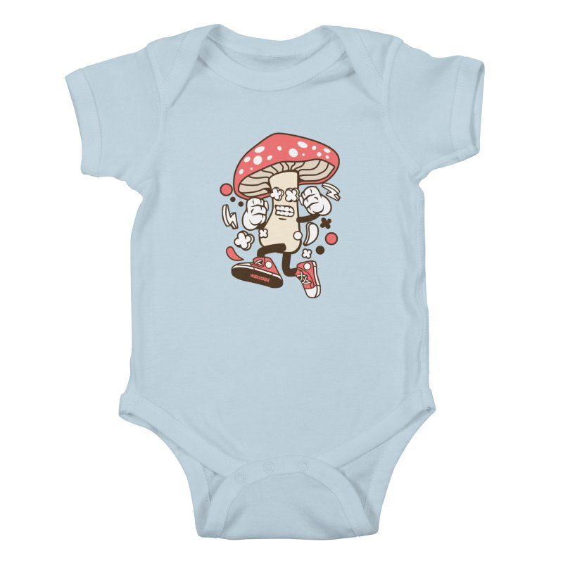 Magic Mushroom Kids Baby Bodysuit by WackyToonz