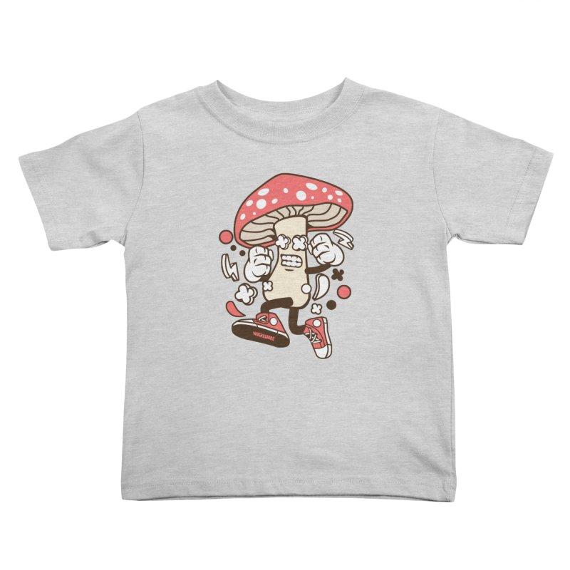 Magic Mushroom Kids Toddler T-Shirt by WackyToonz