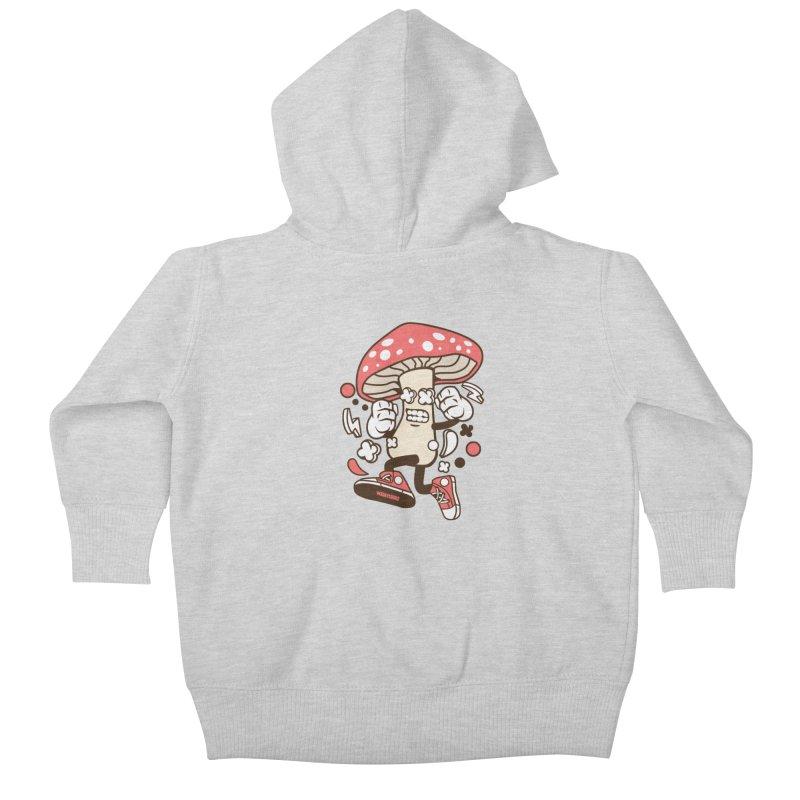 Magic Mushroom Kids Baby Zip-Up Hoody by WackyToonz
