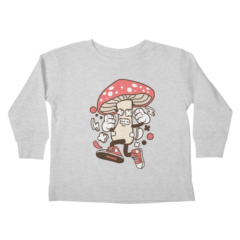 Magic Mushroom Kids Toddler Longsleeve T-Shirt by WackyToonz