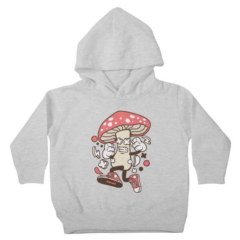 Magic Mushroom Kids Toddler Pullover Hoody by WackyToonz
