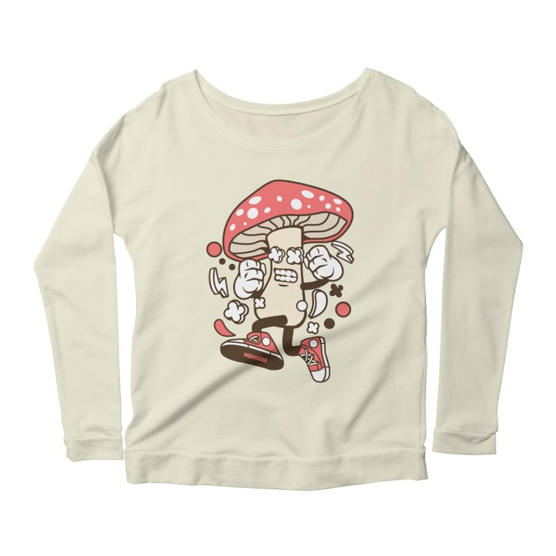 Magic Mushroom Women's Scoop Neck Longsleeve T-Shirt by WackyToonz