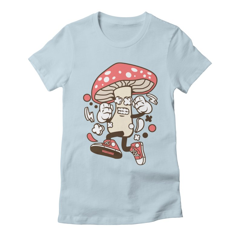 Magic Mushroom Women's Fitted T-Shirt by WackyToonz