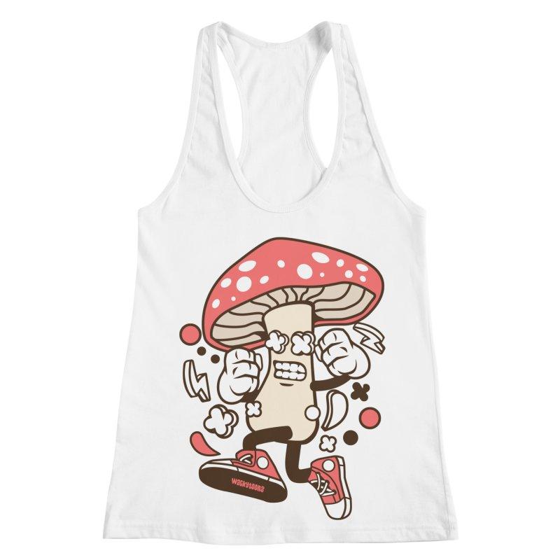 Magic Mushroom Women's Racerback Tank by WackyToonz