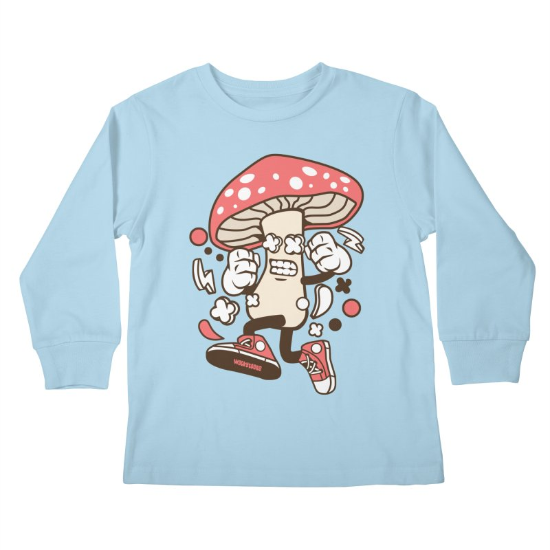 Magic Mushroom Kids Longsleeve T-Shirt by WackyToonz