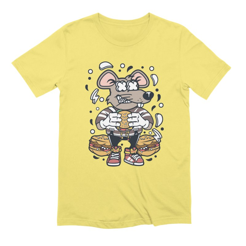 Burger Rat Men's T-Shirt by WackyToonz