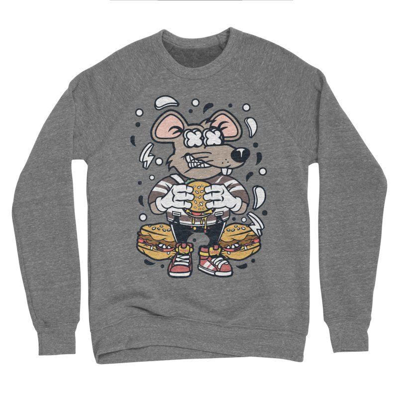 Burger Rat Men's Sponge Fleece Sweatshirt by WackyToonz