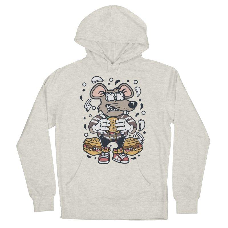 Burger Rat Men's Pullover Hoody by WackyToonz