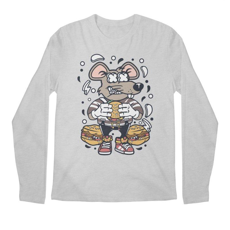 Burger Rat Men's Regular Longsleeve T-Shirt by WackyToonz