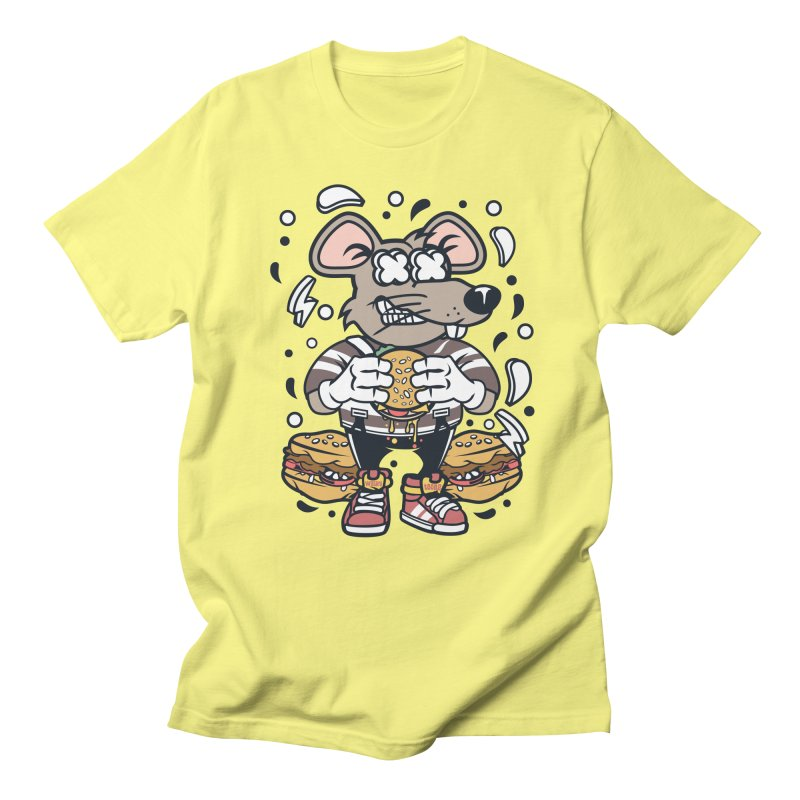 Burger Rat Men's Regular T-Shirt by WackyToonz
