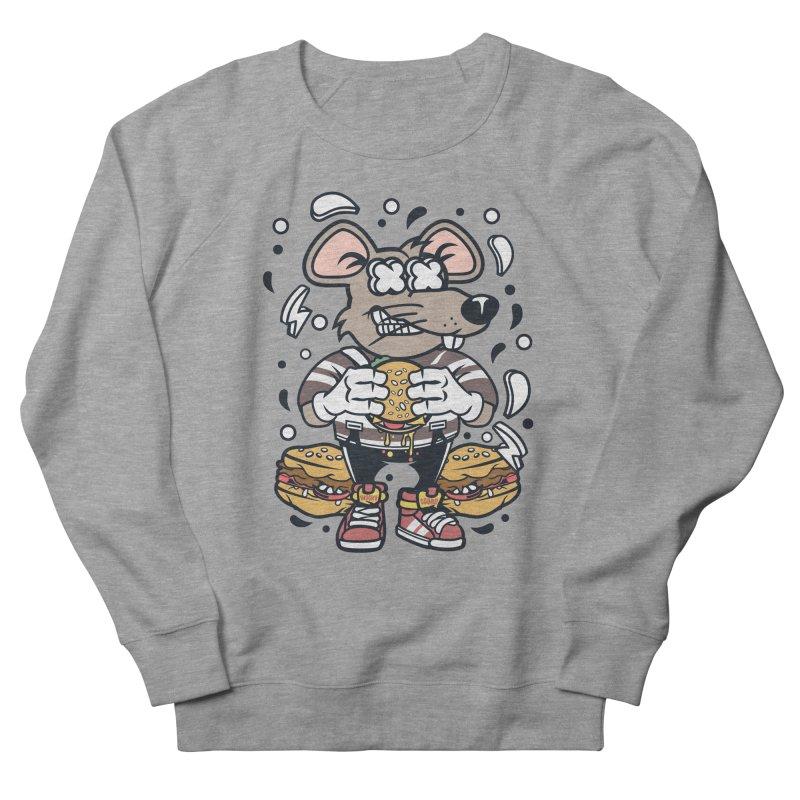 Burger Rat Men's French Terry Sweatshirt by WackyToonz