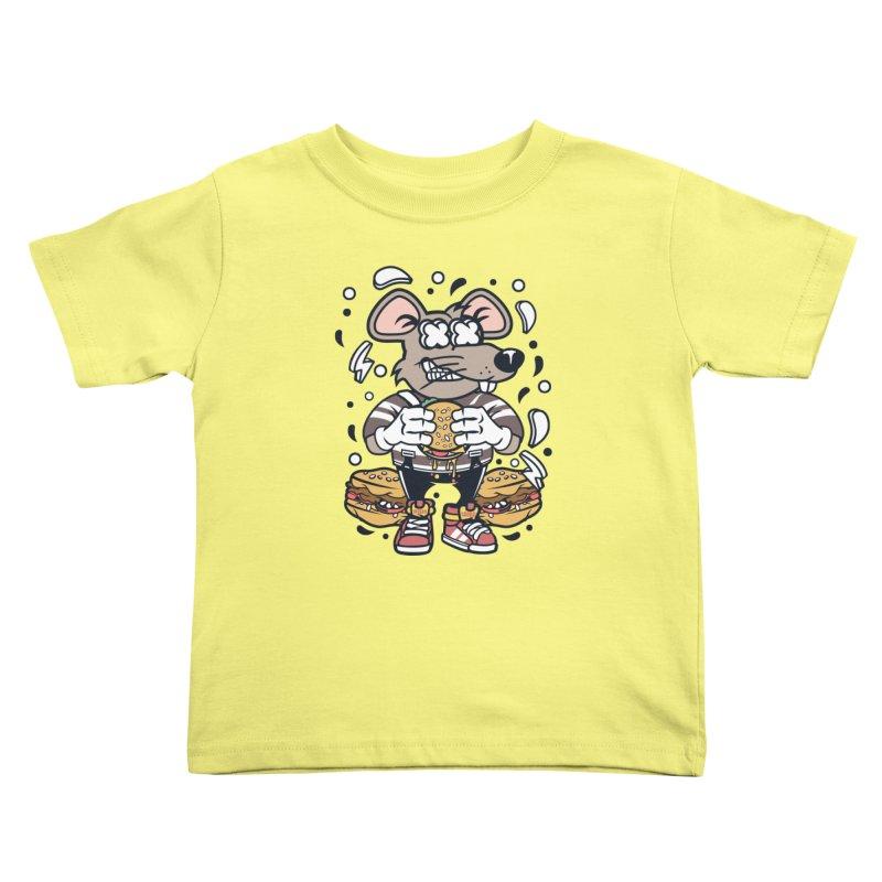Burger Rat Kids Toddler T-Shirt by WackyToonz