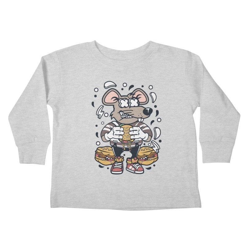 Burger Rat Kids Toddler Longsleeve T-Shirt by WackyToonz