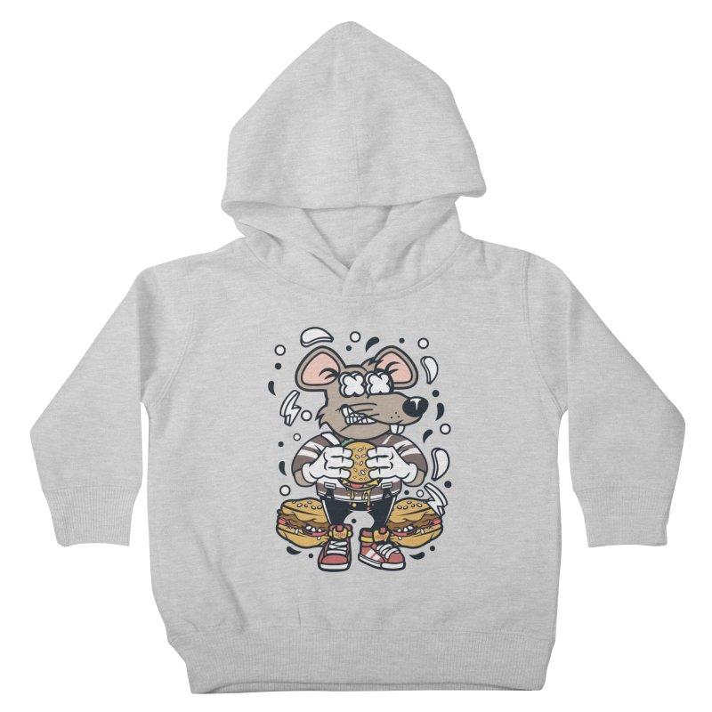 Burger Rat Kids Toddler Pullover Hoody by WackyToonz