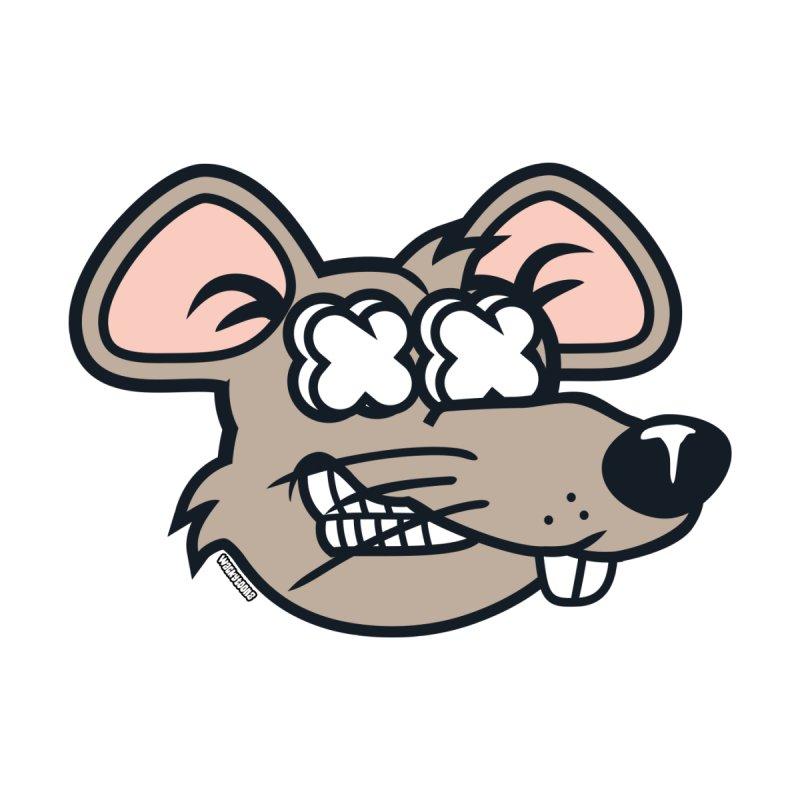 Rat Head Accessories Sticker by WackyToonz