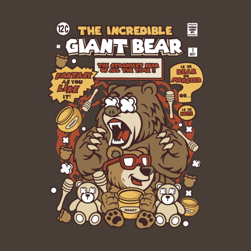 The Incredible Giant Bear Men's Zip-Up Hoody by WackyToonz