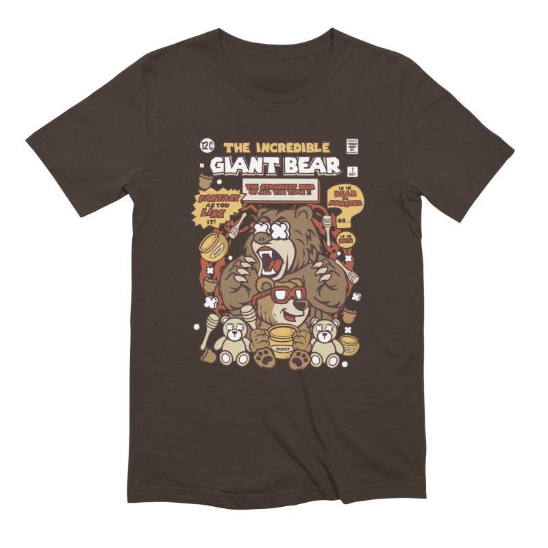 The Incredible Giant Bear Men's T-Shirt by WackyToonz