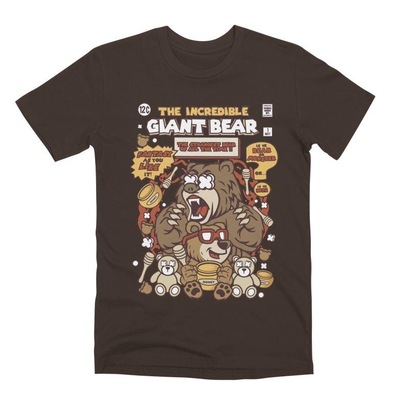The Incredible Giant Bear Men's Premium T-Shirt by WackyToonz