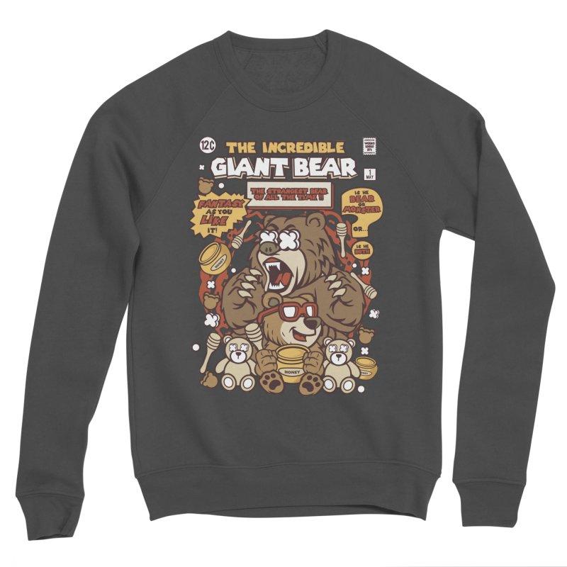 The Incredible Giant Bear Women's Sponge Fleece Sweatshirt by WackyToonz