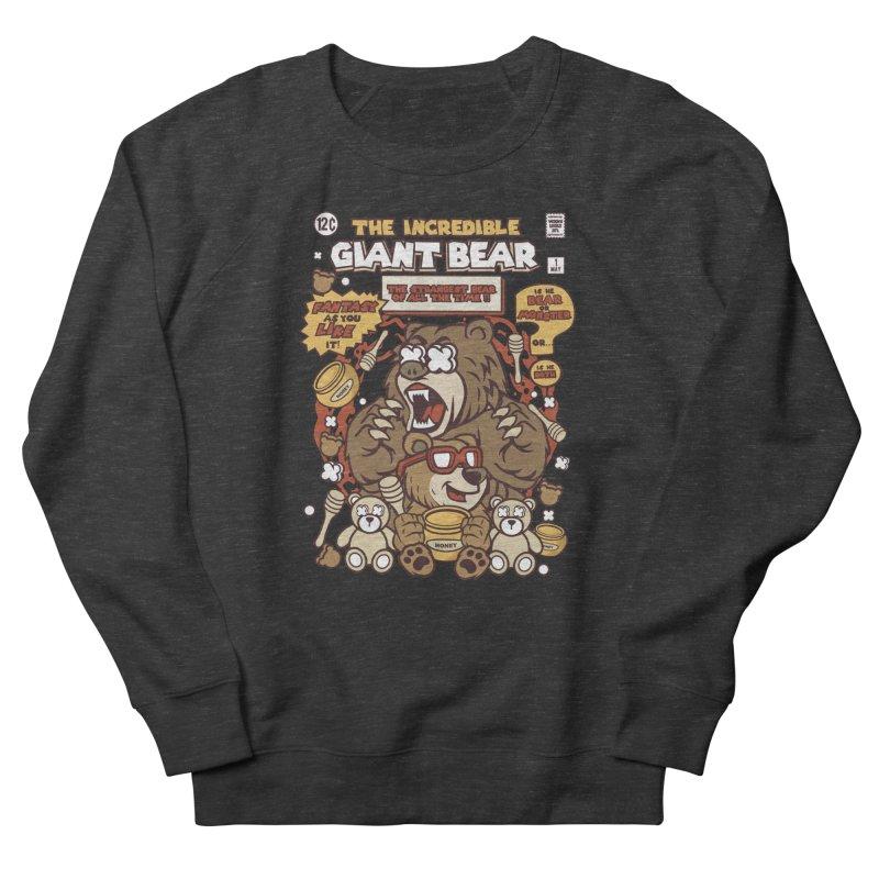 The Incredible Giant Bear Men's Sweatshirt by WackyToonz