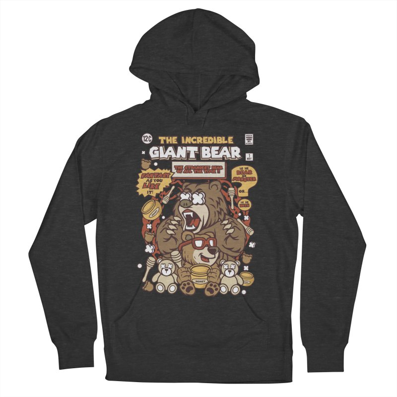 The Incredible Giant Bear Men's French Terry Pullover Hoody by WackyToonz