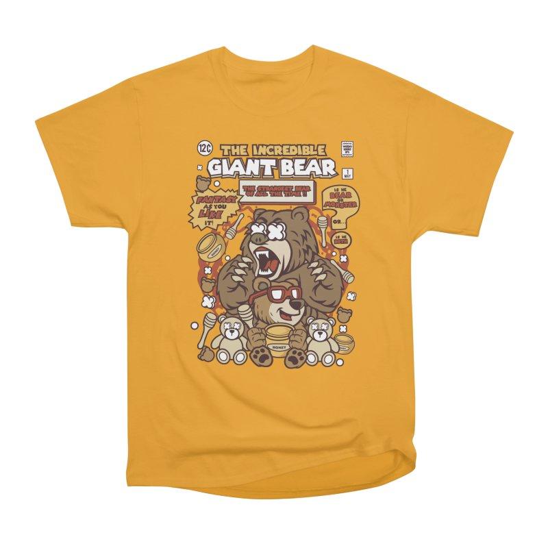 The Incredible Giant Bear Men's Heavyweight T-Shirt by WackyToonz