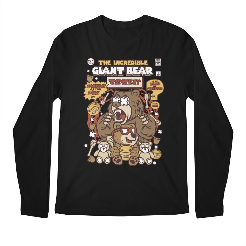 The Incredible Giant Bear Men's Longsleeve T-Shirt by WackyToonz