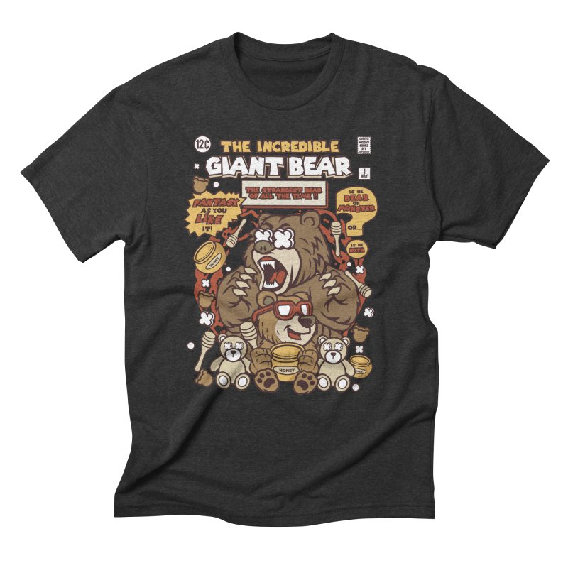The Incredible Giant Bear Men's T-Shirt by WackyToonz