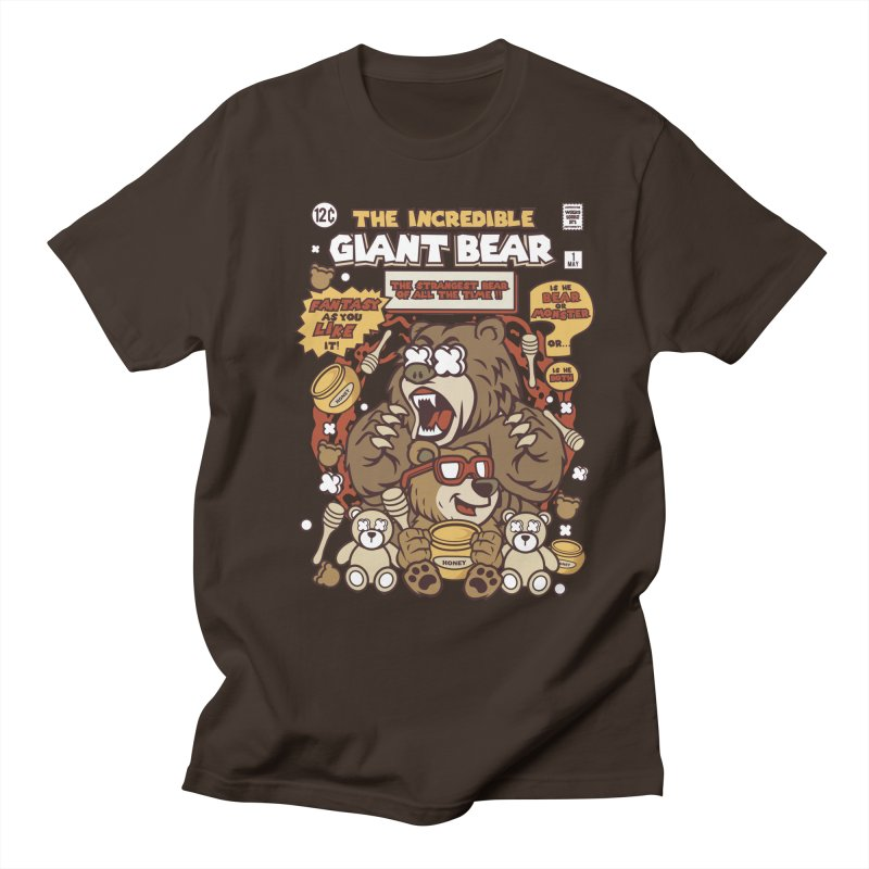 The Incredible Giant Bear Men's Regular T-Shirt by WackyToonz