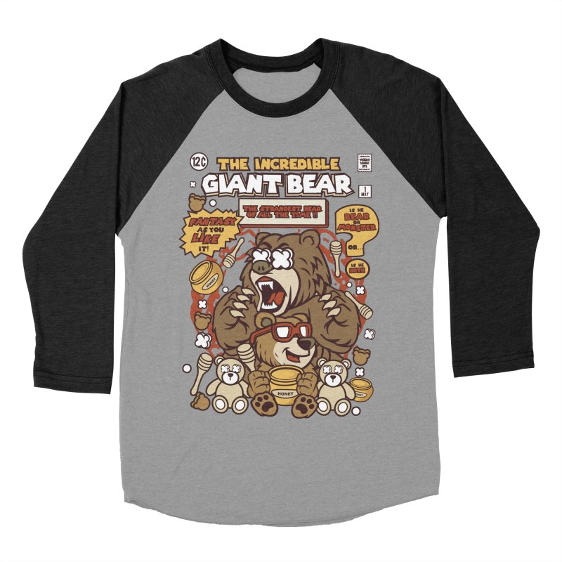 The Incredible Giant Bear Women's Baseball Triblend Longsleeve T-Shirt by WackyToonz