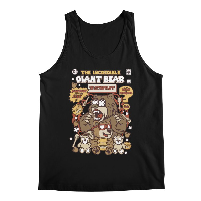 The Incredible Giant Bear Men's Tank by WackyToonz