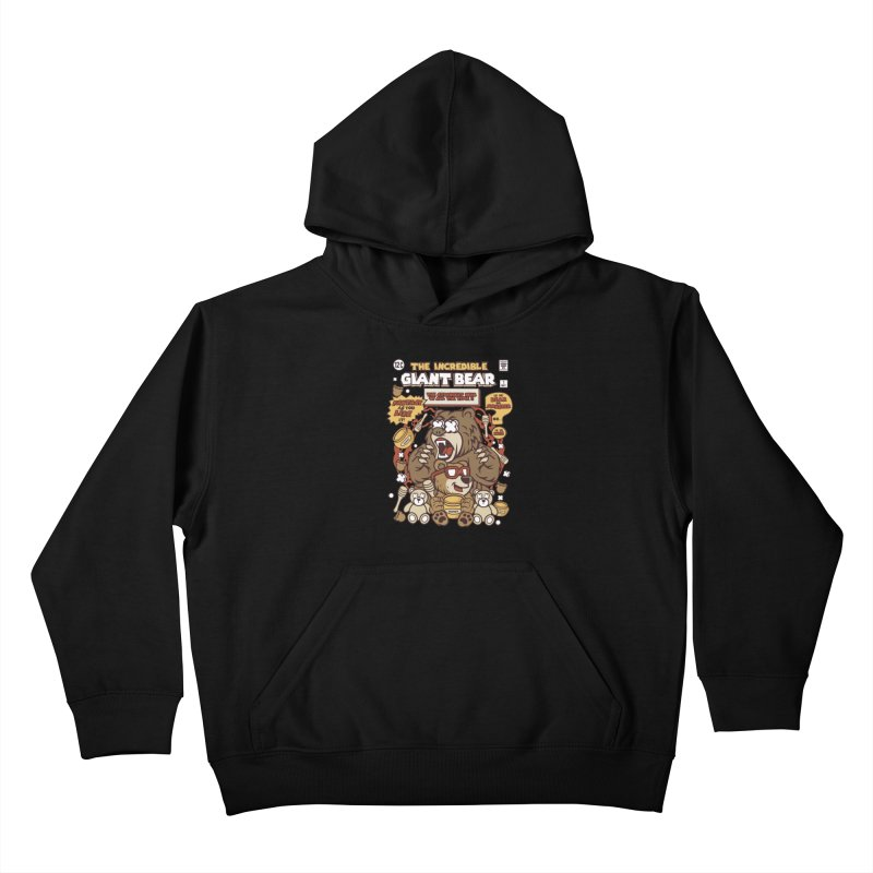 The Incredible Giant Bear Kids Pullover Hoody by WackyToonz