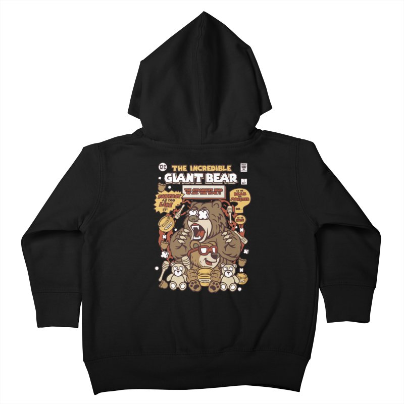 The Incredible Giant Bear Kids Toddler Zip-Up Hoody by WackyToonz