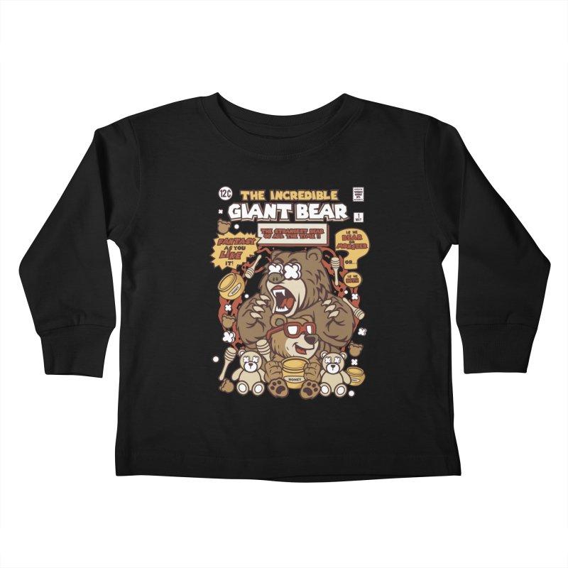 The Incredible Giant Bear Kids Toddler Longsleeve T-Shirt by WackyToonz