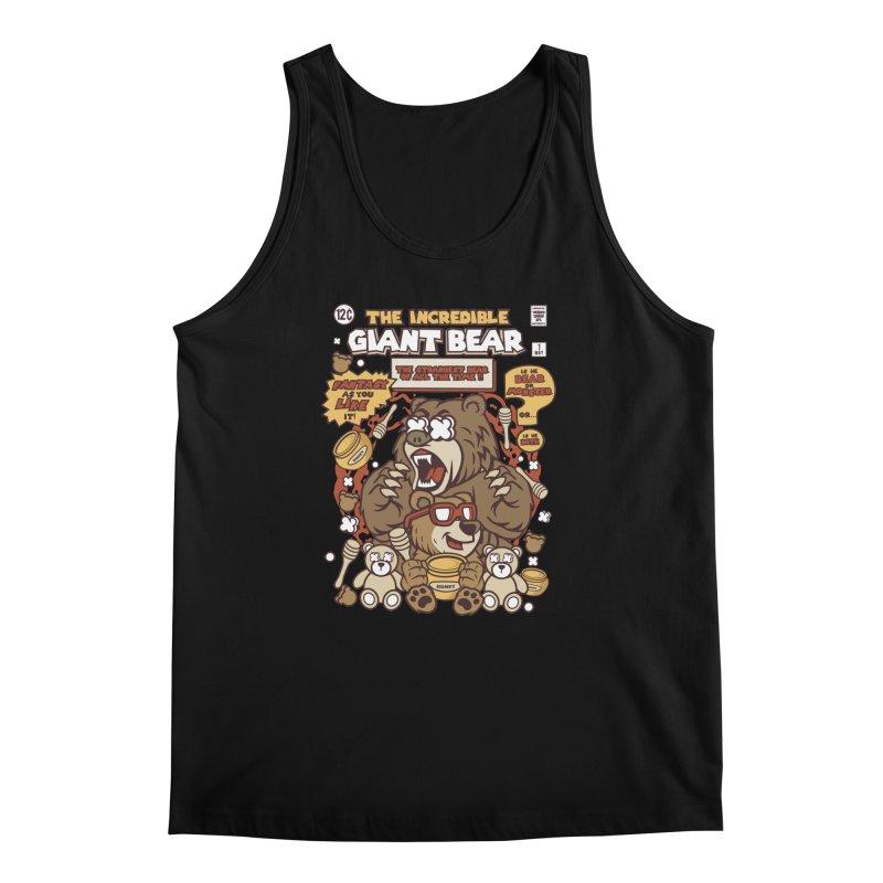 The Incredible Giant Bear Men's Regular Tank by WackyToonz