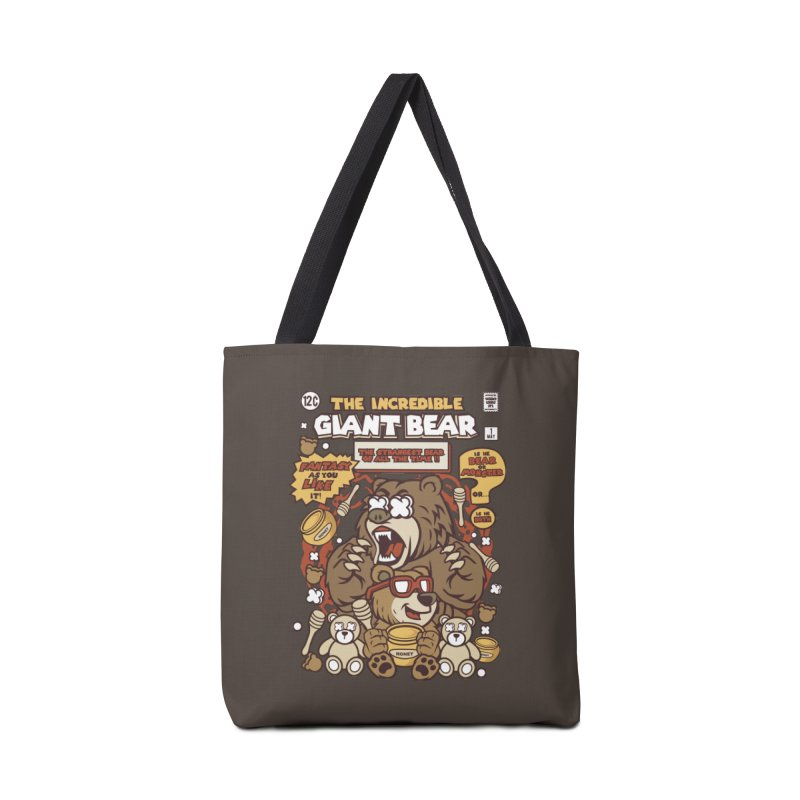 The Incredible Giant Bear Accessories Tote Bag Bag by WackyToonz