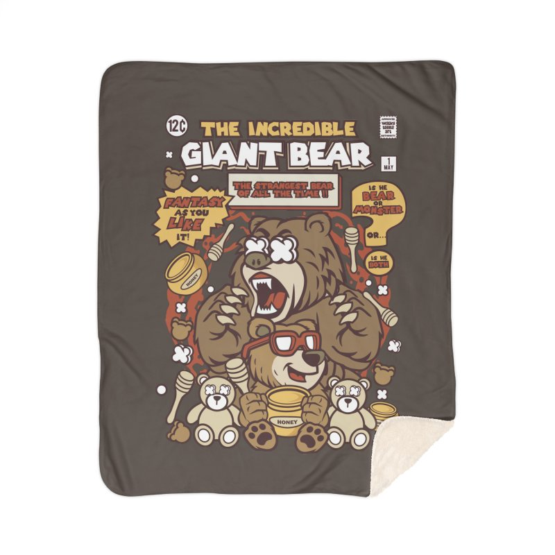 The Incredible Giant Bear Home Blanket by WackyToonz