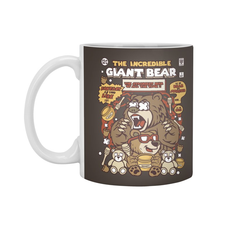 The Incredible Giant Bear Accessories Standard Mug by WackyToonz