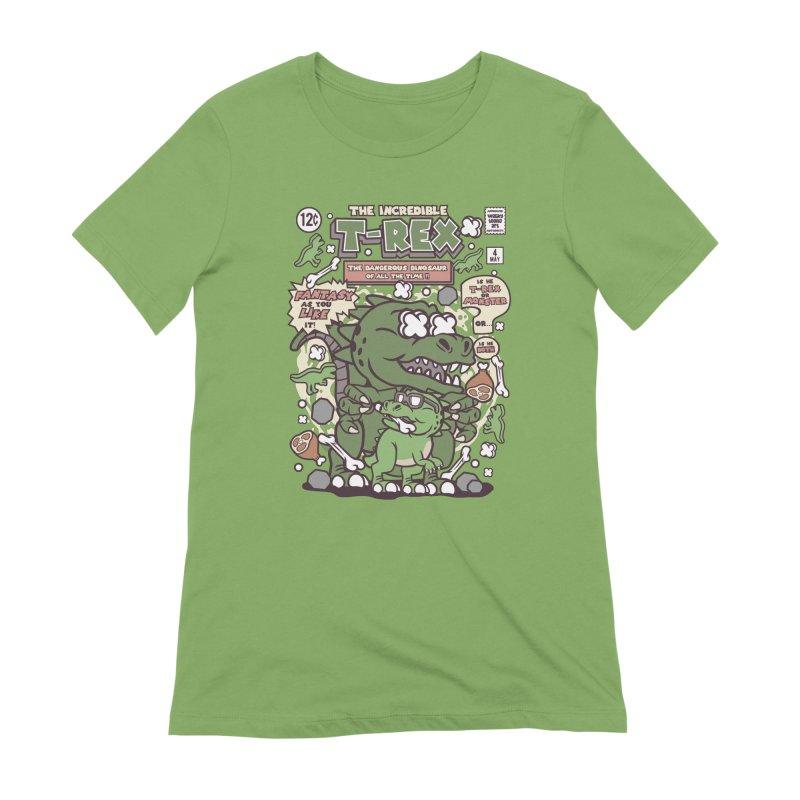 The Incredible T-Rex Women's Extra Soft T-Shirt by WackyToonz