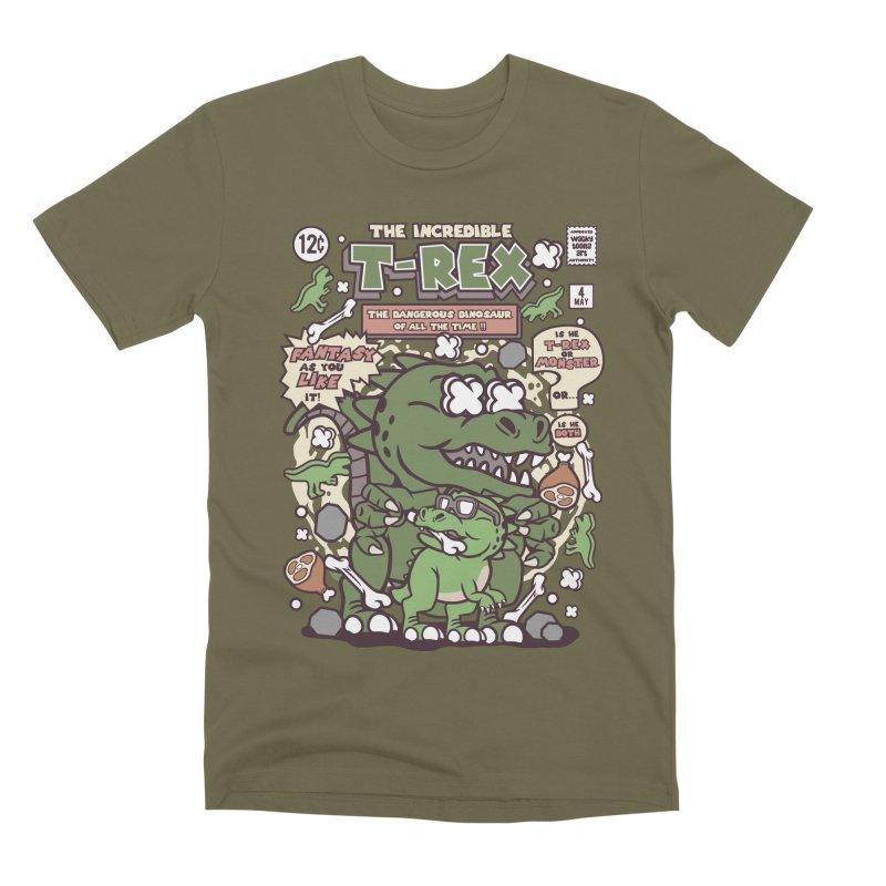 The Incredible T-Rex Men's Premium T-Shirt by WackyToonz