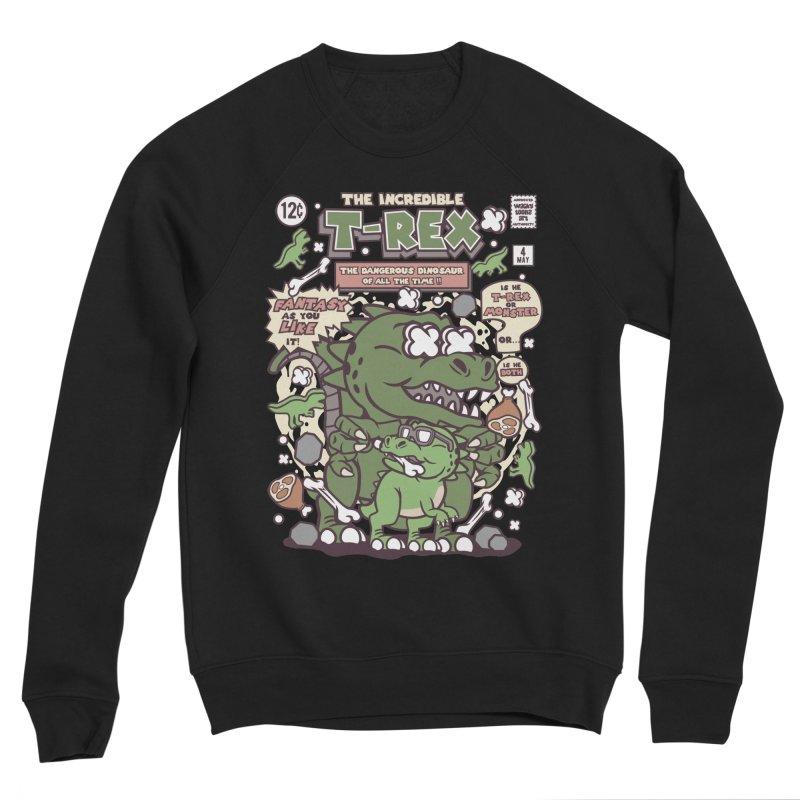 The Incredible T-Rex Women's Sponge Fleece Sweatshirt by WackyToonz