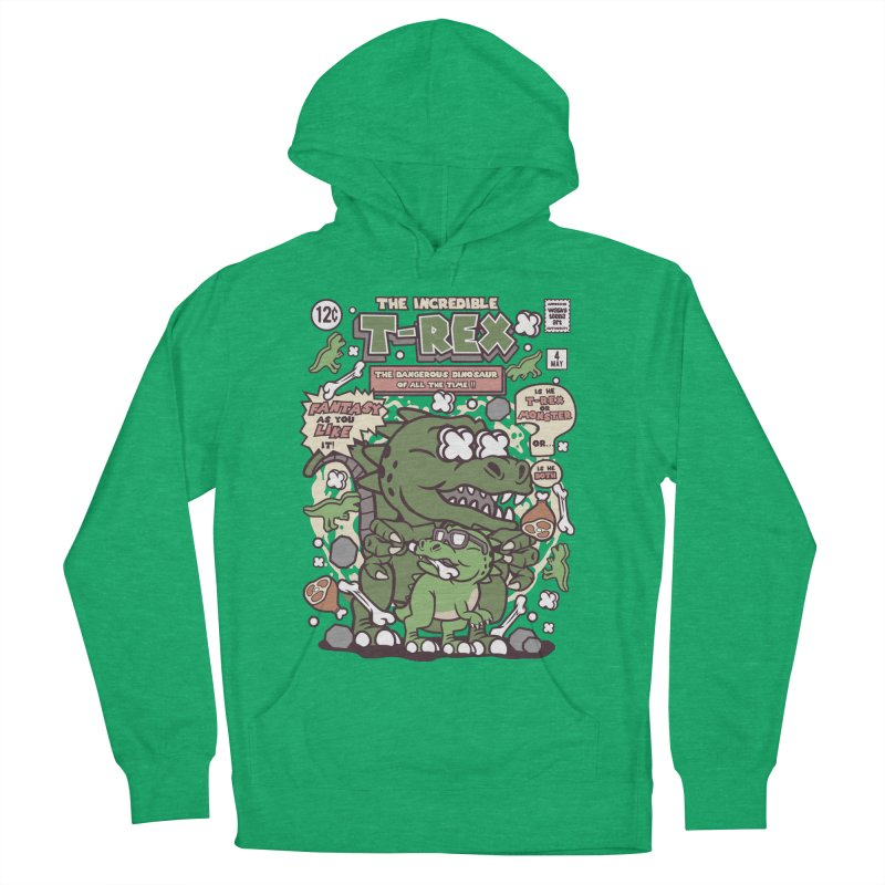 The Incredible T-Rex Men's French Terry Pullover Hoody by WackyToonz