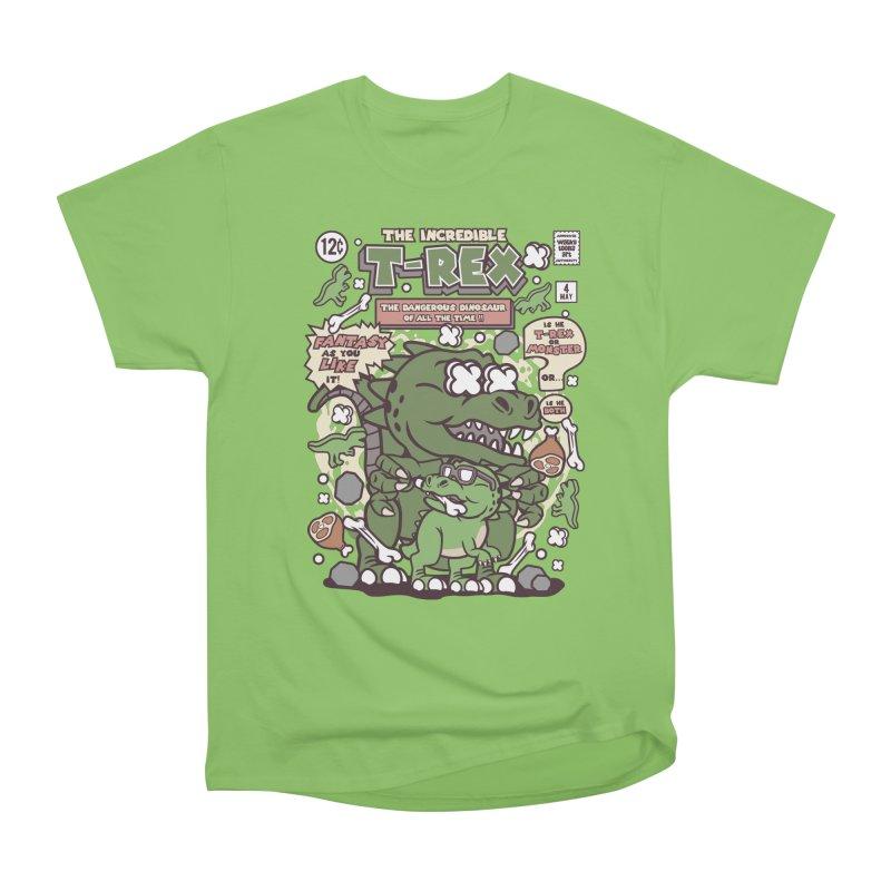 The Incredible T-Rex Men's Heavyweight T-Shirt by WackyToonz