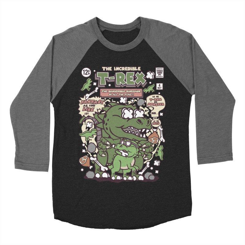 The Incredible T-Rex Women's Baseball Triblend Longsleeve T-Shirt by WackyToonz