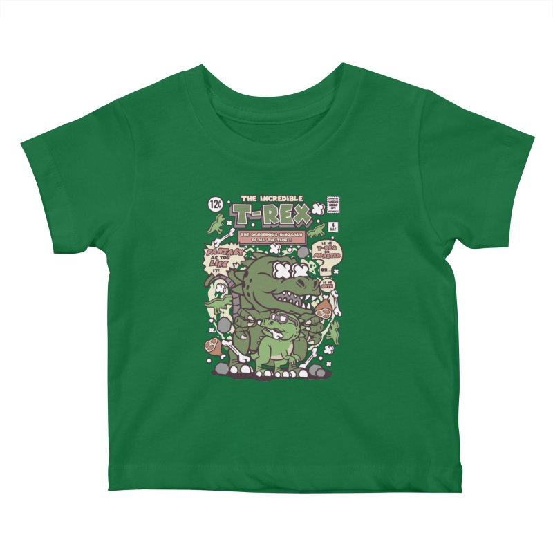 The Incredible T-Rex Kids Baby T-Shirt by WackyToonz